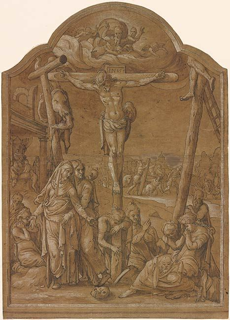 Pieter Aertsen | The Crucifixion | Drawings Online | The