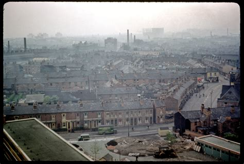View east from top flat of Salford flats, Aston
