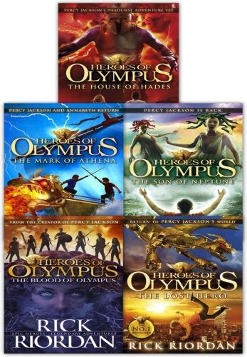 Heroes of olympus Complete Collection 5 Books Set by Rick