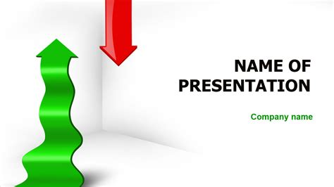 Download free Green Red Arrow PowerPoint template for your