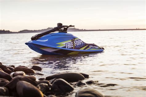 All-electric personal watercraft launch for quieter lake
