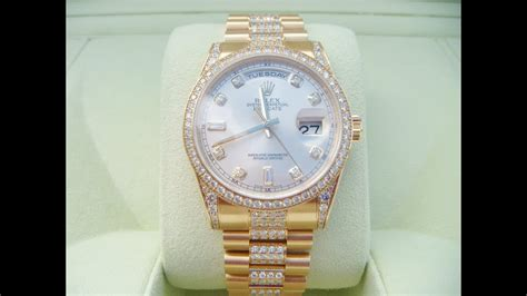 Rolex Oyster Perpetual Day Date Gents 18ct yellow gold