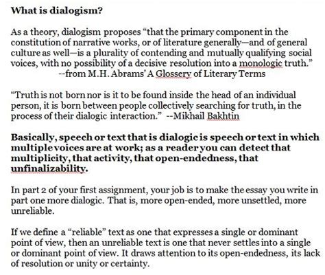 Are You Nobody, Too? Getting Dialogic in English 1101