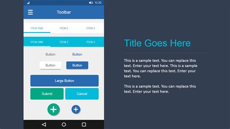 Elemental UI Buttons in Android Materials Design for