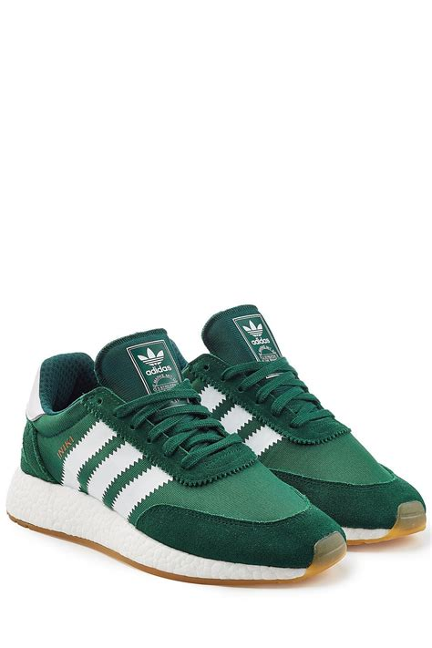 Adidas originals Iniki Sneakers With Suede in Green for
