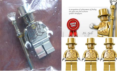 Four Lego Mr Gold Minifigures over on Amazon in the US