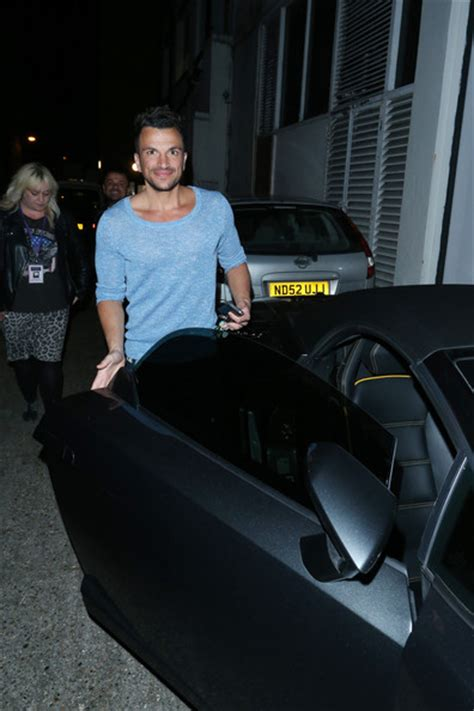 Peter Andre Takes His Lamborghini Out For A Spin