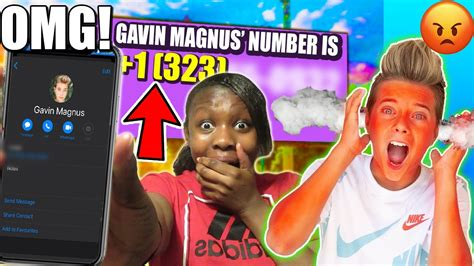 EXPOSING GAVIN MAGNUS' REAL NUMBER! OMG HE ANSWERED