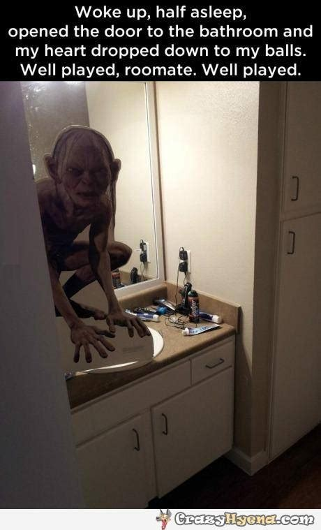 Funny roomate prank with Gollum