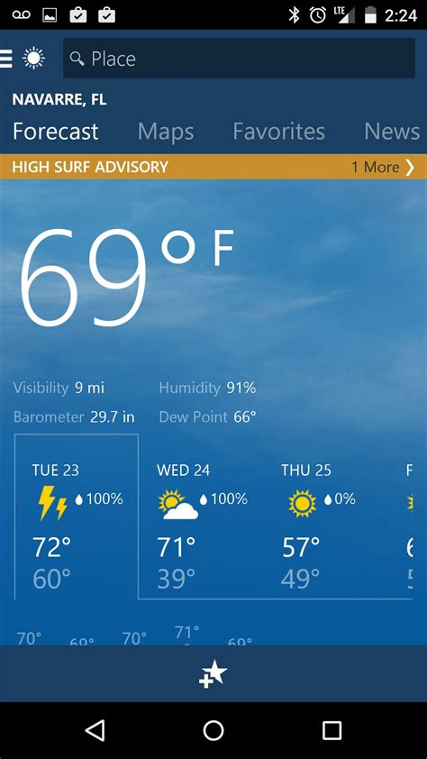 MSN Weather for Amazon Kindle Fire HD 8