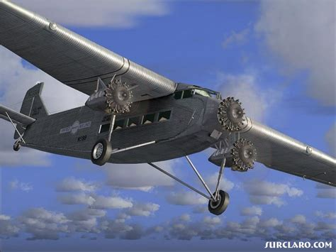 FS2004 United Airlines Ford Trimotor At Dawn (5899