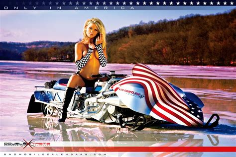 Snowmobile Calendars - Chilly Ladies With Bra Problems