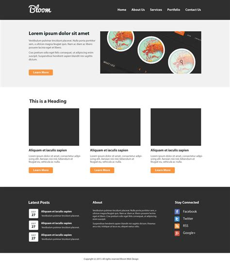 Create a Clean Website Layout PSD to HTML/CSS [Tutorial